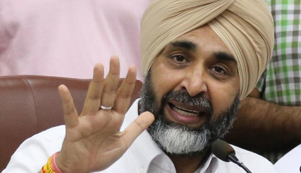 Finance minister Manpreet Singh Badal interacting with the media after budget presentation at Punjab Vidhan Sabha in Chandigarh on Tuesday, June 20.