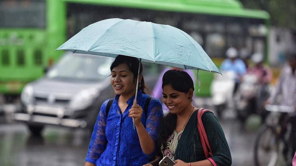With temperatures hitting 44.6 degrees Celsius earlier this month, these pre-monsoon showers are expected to keep temperatures under check  (Raj K Raj/HT Photo)
