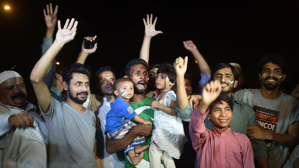 Fans celebrated a massive occasion as Pakistan became only the fourth team to complete the ICC treble after India, Sri Lanka and West Indies. (AFP)