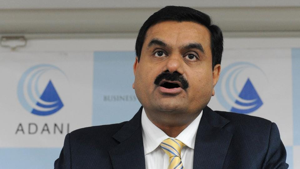 This file photo taken on December 23, 2010 shows Chairman of the Adani Group Gautam Adani speaking during a press conference in Ahmedabad.