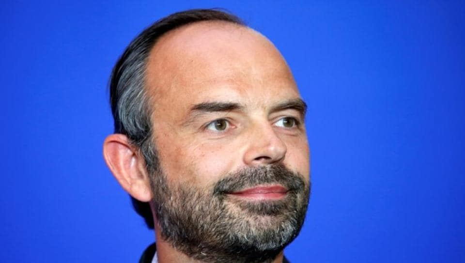 French Prime Minister Edouard Philippe attends a news conference to unveil the government's labour reforms, in Paris, France.