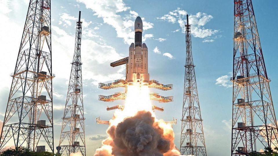 ISRO's heaviest rocket GSLV Mk-III, carrying communication satellite GSAT-19, takes off from Satish Dhawan Space Centre in Sriharikota on May 6, 2017.