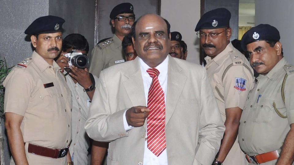 Retired Calcutta high court judge Chinnaswamy Swaminathan Karnan