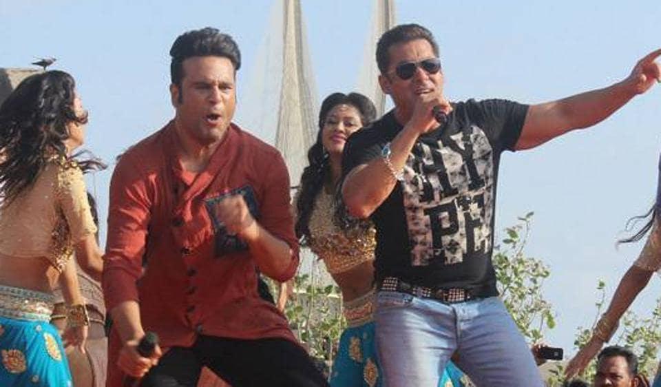 When Salman Khan shot for India Banega Manch with Krushna Abhishek.
