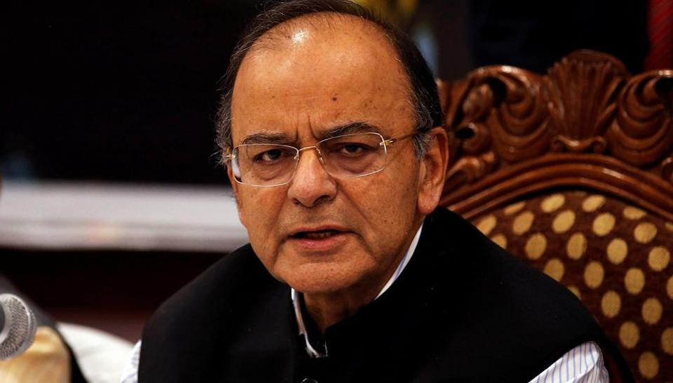 Finance minister Arun Jaitley attends a seminar with state finance ministers on the Goods and Services Tax (GST) issues, in Srinagar.