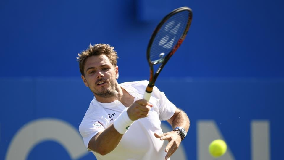 Stan Wawrinka was surprisingly knocked out of the Queens's Club Championship
