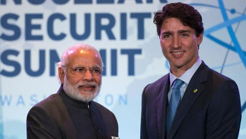 File photo of Indian Prime Minister Narendra Modi with Canadian Prime Minister Justin Trudeau at a bilateral meeting during the 2016 Nuclear Security Summit in Washington.