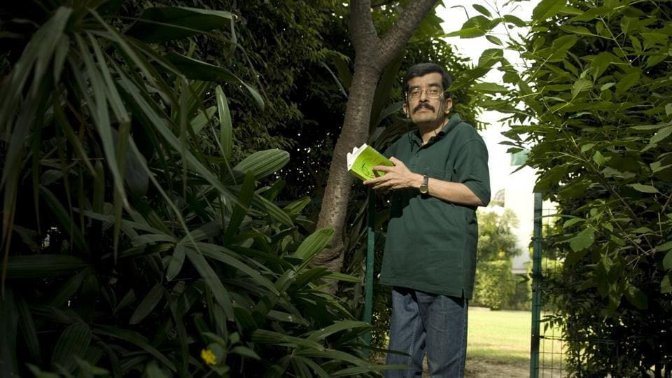 Ranjit Lal at his residence that is next to the Nicholson Cemetery in Delhi.