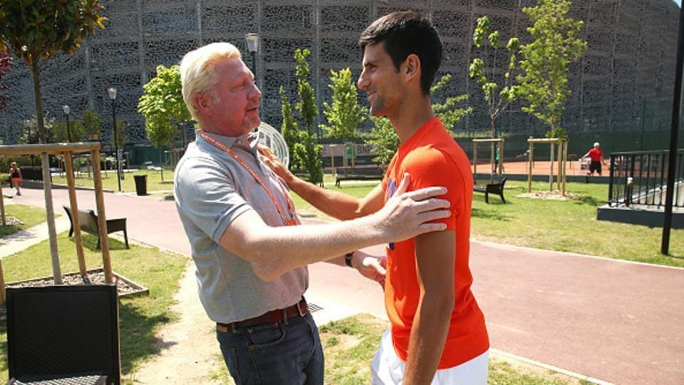 Boris Becker,Novak Djokovic