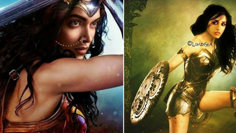Fans are sharing images of their favourite celebrity as Wonder Woman.