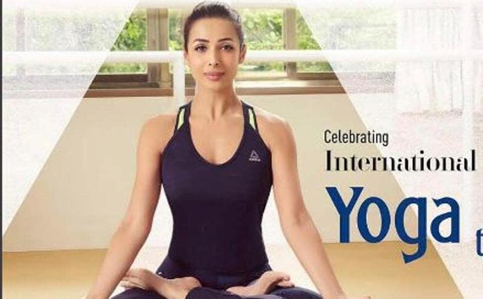 Actor Malaika Arora has also joined International Yoga Day celebrations.