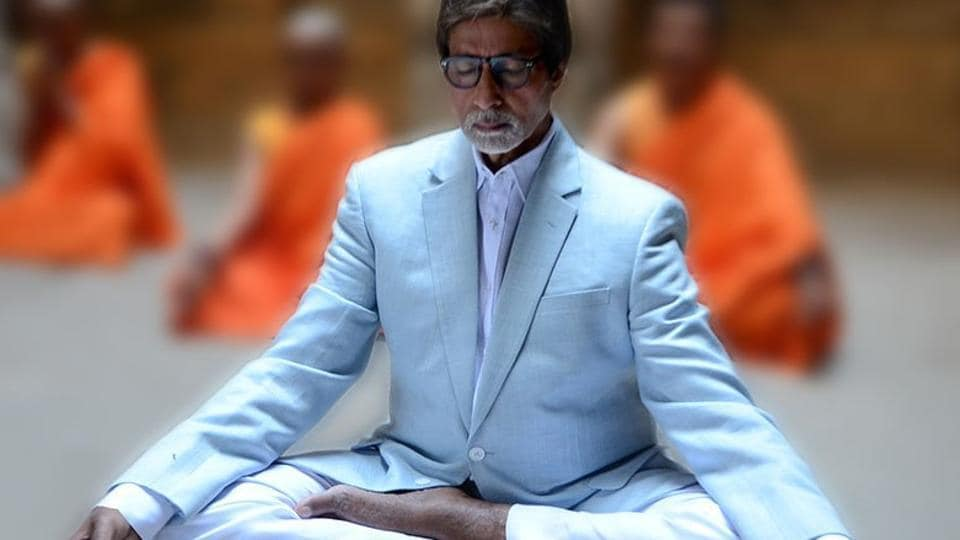 Amitabh Bachchan,Meditation,International Yoga Day