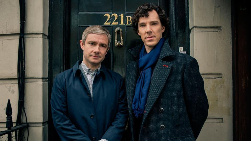 Martin Freeman and Benedict Cumberbatch in a still from the show.