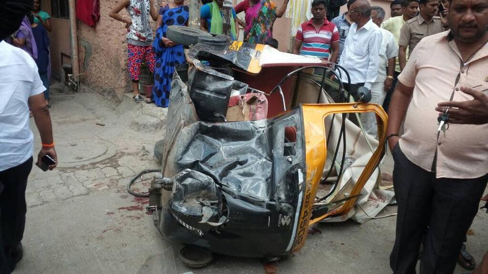 The auto driver was booked for causing the death of the 12-year-old girl due to negligent driving.
