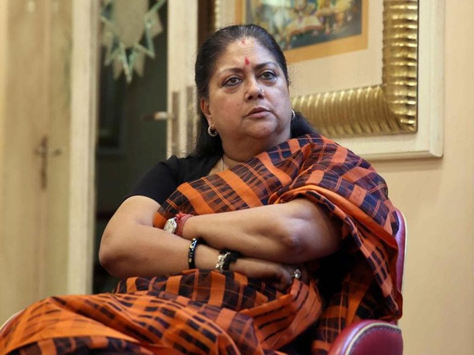 Lawyers burnt an effigy of chief minister Vasundhara Raje in Alwar and skipped court work as part of a statewide stir to demand withdrawal of the ordinance that shields public servants from probe without the government's approval.
