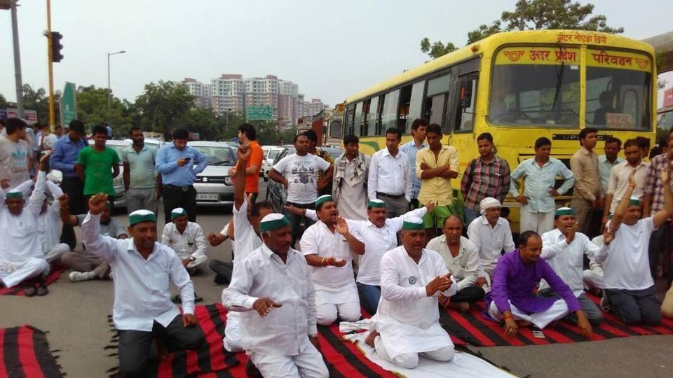 Noida,InternationalYoga Day,farmer protest