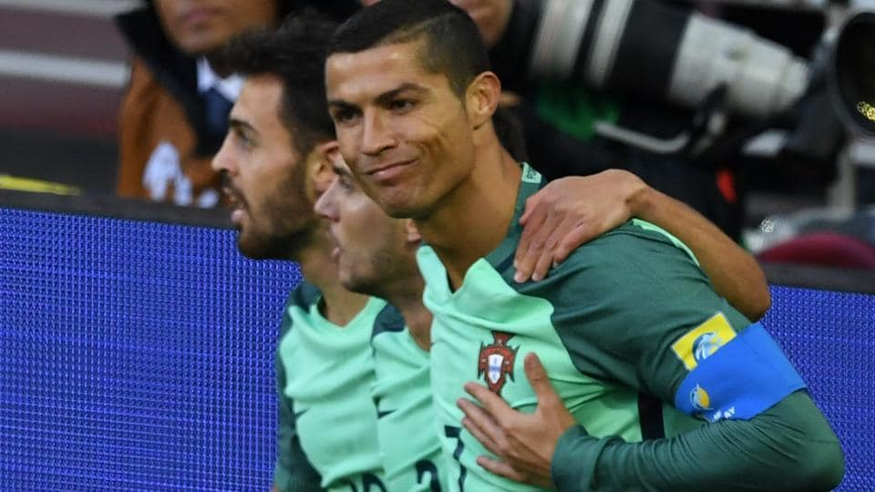 Cristiano Ronaldo celebrates after scoring a goal during the FIFA Confederations Cup match between Russia and Portugal. Follow highlights of Russia vs Portugal, FIFA Confederations Cup here.