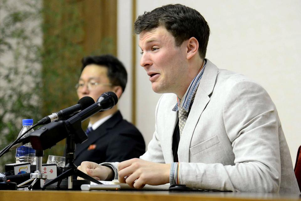 This file photo shows US student Otto Frederick Warmbier.