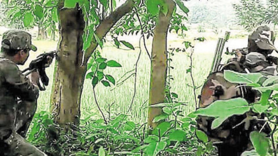 When the patrolling team was cordoning off a forest patch near Hasnar, the security men spotted a Maoist camp and started encircling the area.