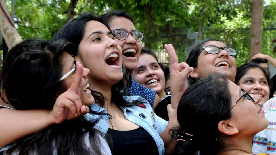 Students celebrate CBSE Class 12 result was announced last month.However, several students had approached the Delhi High Court against CBSE's decision to scrap re-evaluation especially after several mistakes came to light during re-verification.
