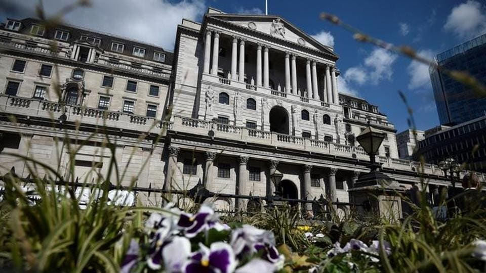 File photo of the Bank of England in the City of London on April 19, 2017.