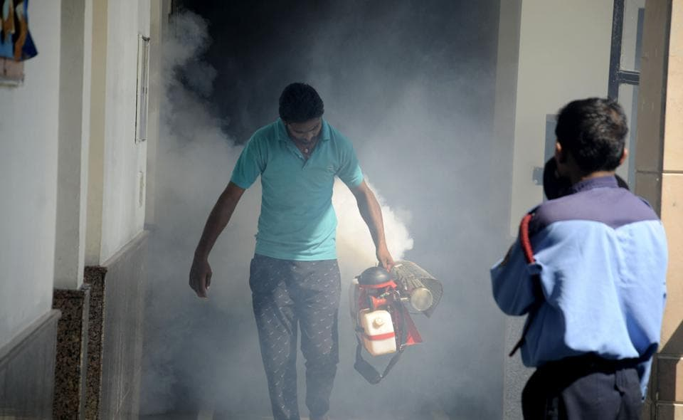 The health department has stepped up its anti-larvae operation and has been carrying out fogging across the city.