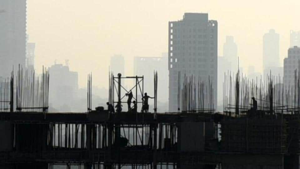 An under construction building in Mumbai.