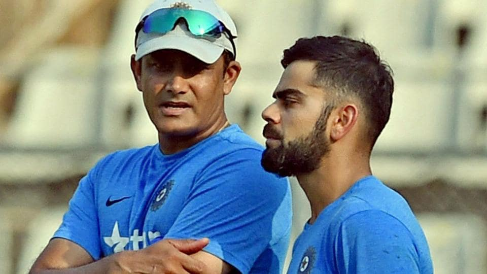 Anil Kumble (L) resigned as the coach of the Indian cricket team after the end of the ICCChampions Trophy.