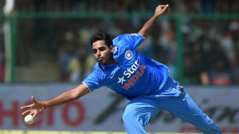 Bhuvneshwar Kumar is expected to play an important role for his side being the main strike bowler. (AFP)