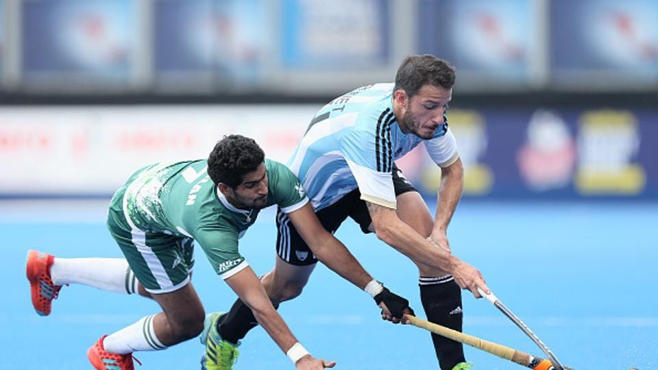 Pakistan lost 3-1 against Argentina in a quarterfinal match of the Hero Hockey World League semifinal on Thursday.