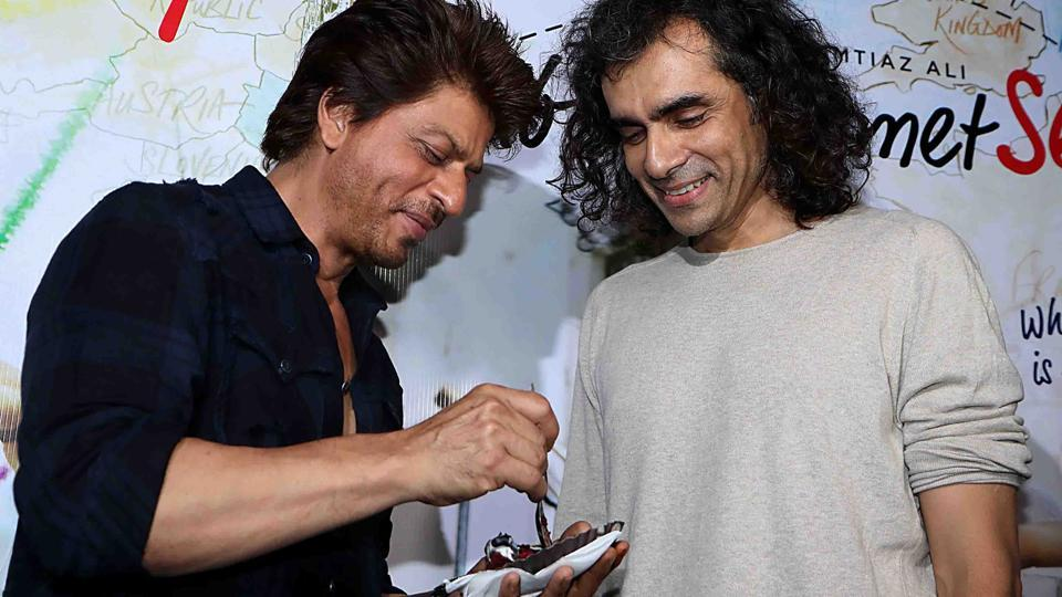 Shah Rukh Khan and Imtiaz Ali at the trailer launch of Jab Harry Met Sejal in Mumbai.