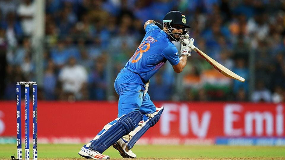 Virat Kohli's 114-ball 127 helped India beat the West Indies by 59 runs in an ODI at Dharamsala in 2013.