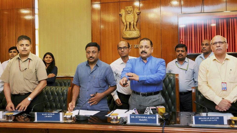Minister of State for DoPT Jitendra Singh launching an online portal for departmental proceedings on Thursday.