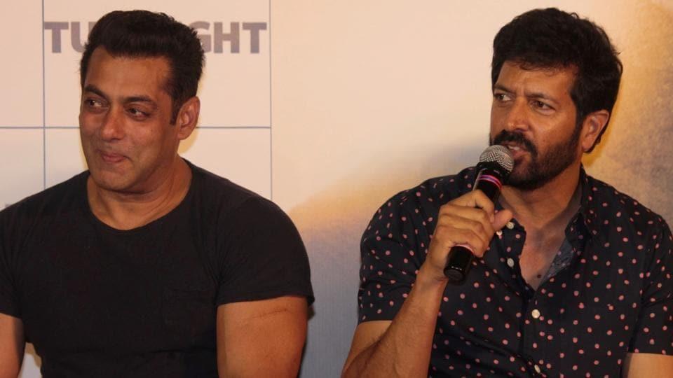 Salman Khan and Kabir Khan during the trailer launch of Tubelight in Mumbai.