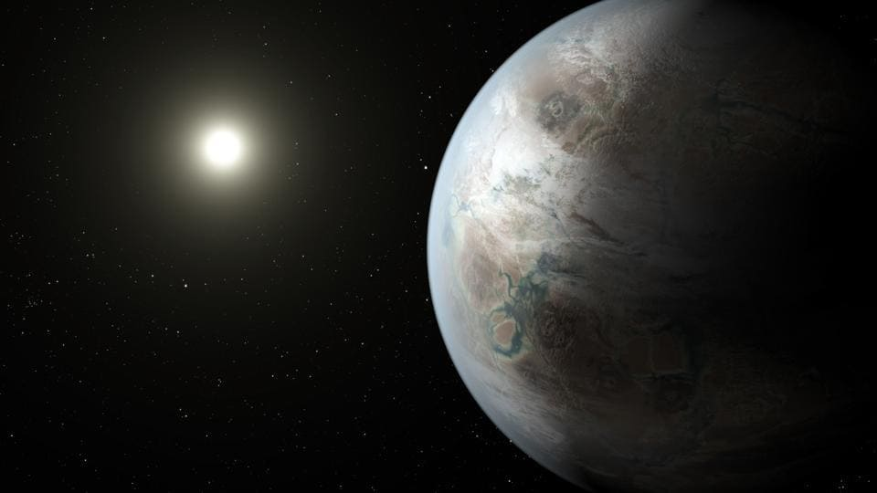 This artist rendering provided by NASA/JPL-Caltech/T. Pyle, taken in 2015, depicts one possible appearance of the planet Kepler-452b, the first near-Earth-size world to be found in the habitable zone of a star that is similar to our sun.