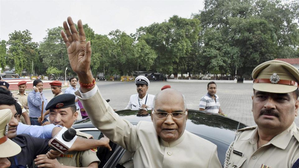 Bihar governor and NDA'S presidential candidate Ram Nath Kovind in Patna, June 19, 2017