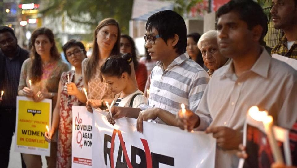 The woman filed a complaint of rape in central Delhi's Paharganj area on Wednesday, after having an argument with her husband. The couple was in Delhi to sort out some immigration-related issues.