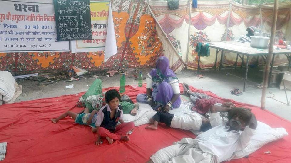 A Dalit family has been demonstrating for last 22 days outside the Barmer collectorate seeking justice for their father.