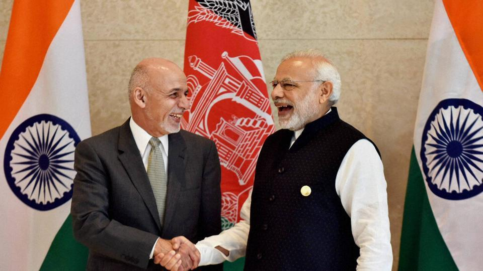 Prime Minister Narendra Modi and Afghanistan's President Ashraf Ghani during Sixth Heart of Asia Conference (File Photo)
