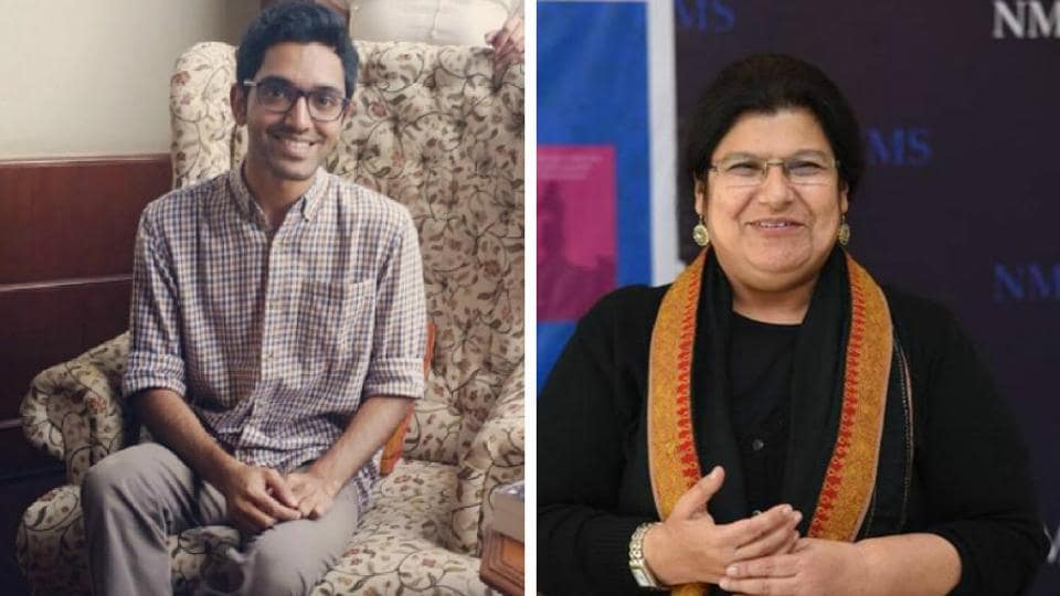 Writers Manu S Pillai (left) and Paro Anand won the Sahitya Akademi award for 2017 for The Ivory Throne and Wild Child and Other Stories, respectively.