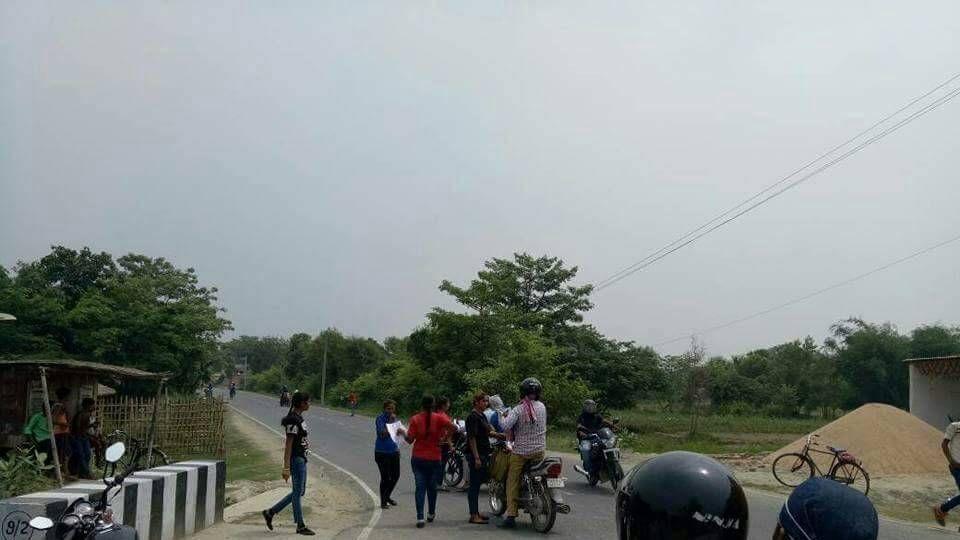 Members of women robbers' gang on one of the highways passing through Muzaffarpur district in Bihar.