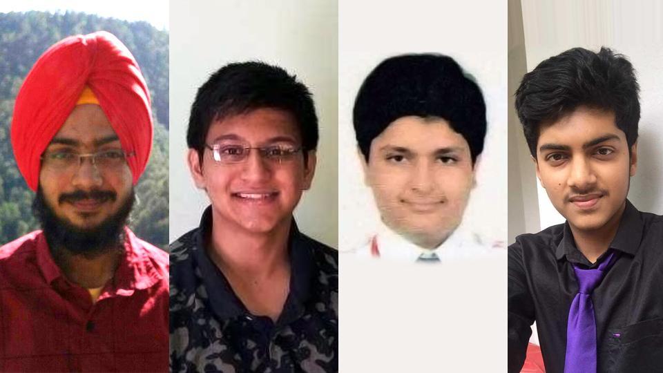 Meet the four CBSE NEET 2017 toppers (according to rank). From Left, Navdeep Singh (AIR 1); Archit Gupta (2); Manish Mulchandani (3) and Sankeerth Sadananda (4).