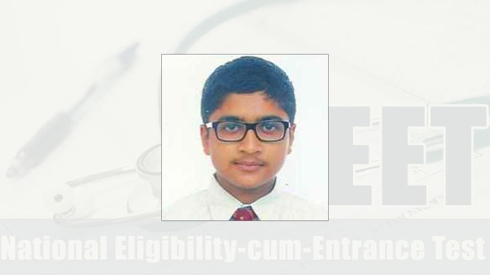 Harsh Agarwal emerged as the Bihar topper with an all-India rank 16 in the National Eligibility-cum-Entrance Test (NEET) 2017.