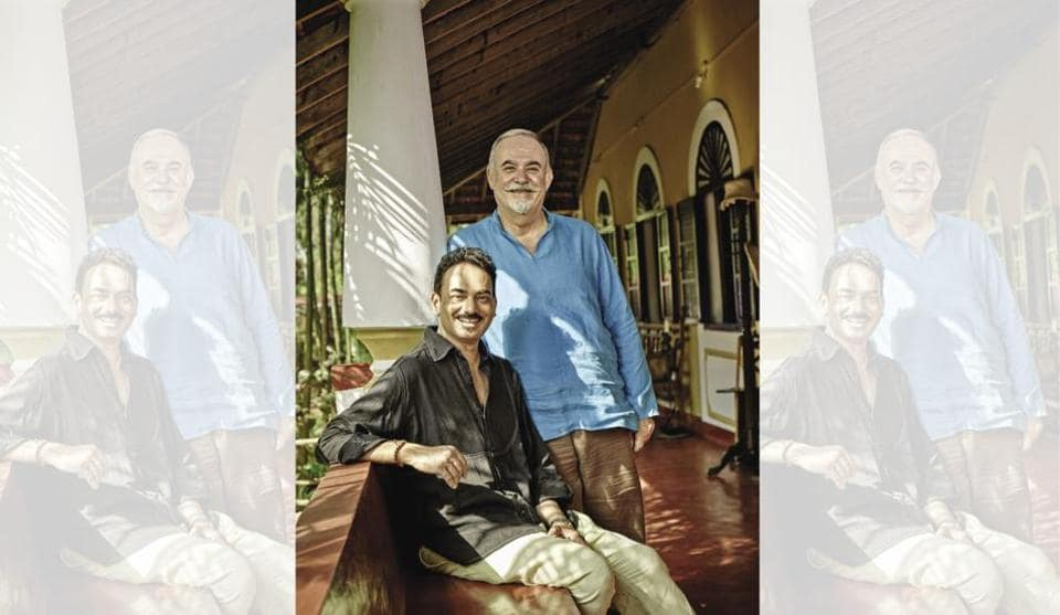 Wendell and Jerome at their home Casa Bonne Aubaine, in Colvale, Goa
