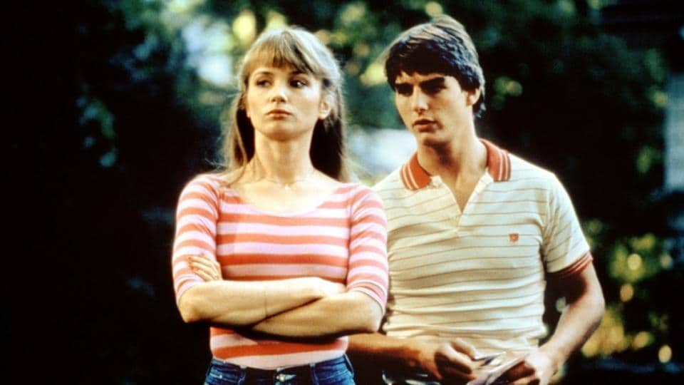 Tom Cruise and Rebecca De Mornay in a still from 1983 film Risky Business.