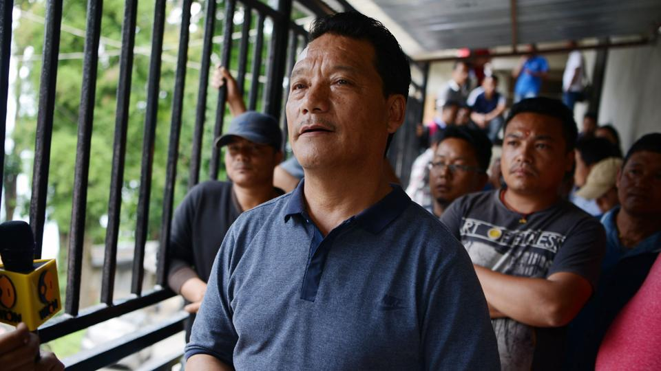 Bimal Gurung, the head of the Gorkha Janmukti Morcha (GJM), resigned as the chief executive of the Gorkhkaland Territorial Administration on Friday.