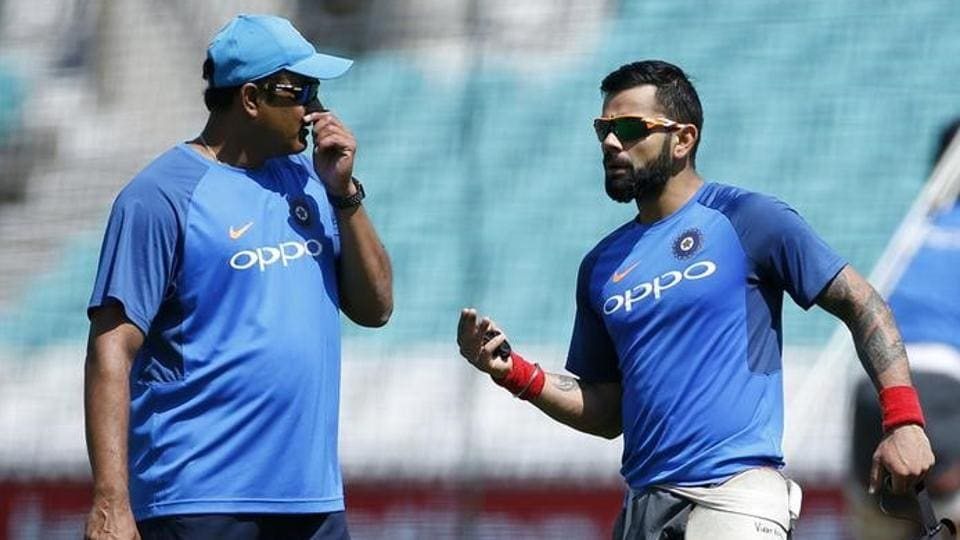 Because of the fall out with Indiacaptain Virat Kohli, head coach Anil Kumble resigned after the ICCChampions Trophy.