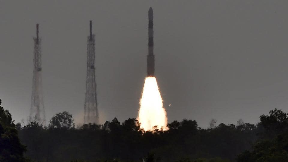 ISRO's PSLV C38 carrying earth observation satellite Cartosat-2 Series along with 30 co-passenger satellites of various countries, lifts off from Satish Dhawan Space Center in Sriharikota on Friday.