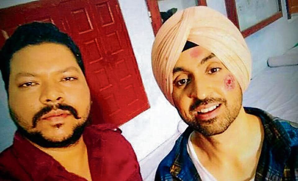 Harry Rampal with 'Super Singh' actor Diljit Dosanjh