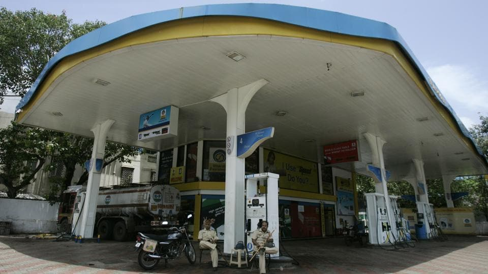 The inmates at the petrol pump, located next to the jail in Hyderabad's Saidabad area, work in three shifts.